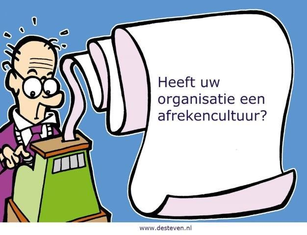 Afrekencultuur in organisaties