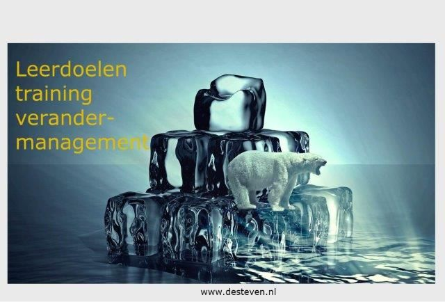 Leerdoelen training verandermanagement
